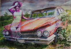 Buick and Lady Friend