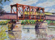 Bridge with Union Pacific Locomotive, Near Jeff City, MO