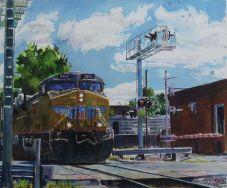 Union Pacific locomotive in Sedalia Missouri.