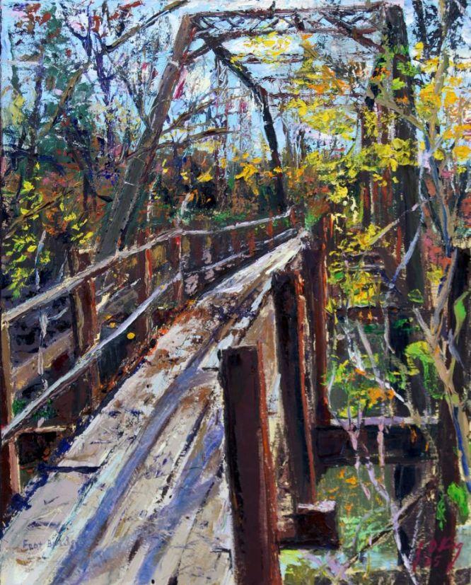 Foot bridge over Cedar Creek, south eastern Boone County, Missouri