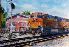 Burlington Northern Sante Fe locomotive, Carrolton, Mo.