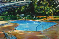 A little slice of Mid-West Heaven. Eastwood Motel, 2005, before they filled in the pool.