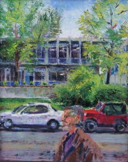 Plein Air painting of University of Missouri Art Department, 2004
