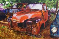 Old fifties something Chevrolet pick up.