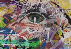 "Detail of ""The Eyes Have It"". Oil on Canvas"