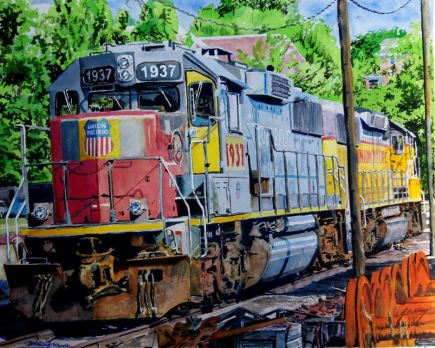 EMD Union Pacific Locomotives, Jefferson City, MO.