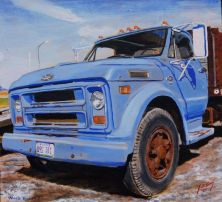 Chevy Big Blue grain truck, probably early '70s.