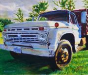 Early 1960s Ford farm truck. Photo used for painting shot south of Columbia, MO on Highway 63.