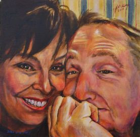 Commissioned portrait of John and Mary King.