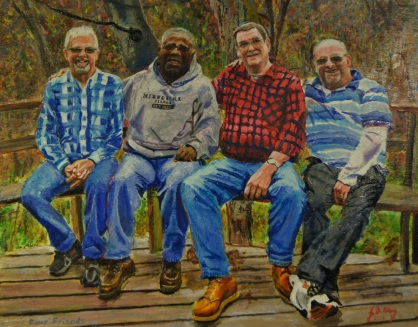 Ron Lawson, John Winfrey, me and Kevin Martin