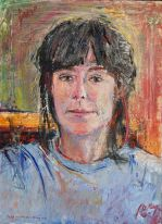 Oil on Canvas done in single session in 2002 of my friend and fellow artist, Jane Mudd