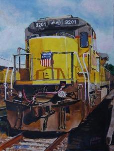 Union Pacific locomotive, Jeff City, MO.