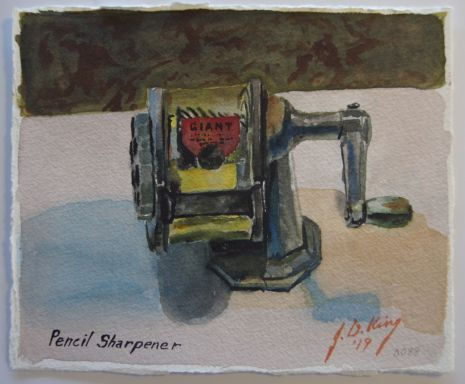 Old pencil sharpener from days gone past.