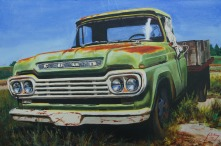 Old Ford Flatbed from photo taken at Midway Antique parking lot around 2015,