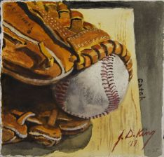 My old ball and glove.