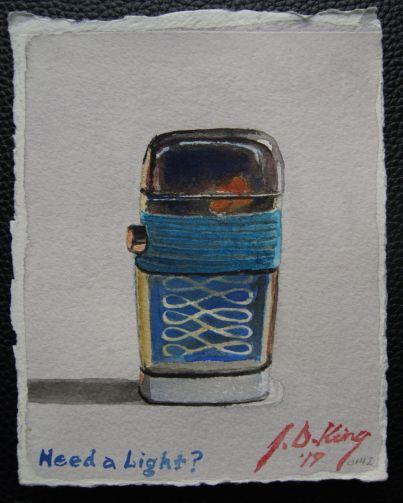 Old butane cigarette light from the 1970s.