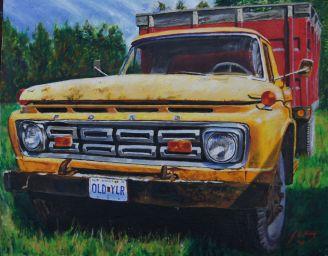 1964 Ford F350 farm grain truck found at Corder Missouri.